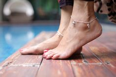 Sterling silver anklet Dolphin charm silver by OneYellowButterflyy