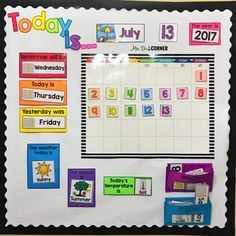Morning Routine for the Self-Contained Classroom Morning calendar routine for morning work in special ed – Kindergarten Lesson Plans Preschool Calendar, Classroom Calendar, Classroom Board, Calendar Time Kindergarten, Toddler Calendar, Calendar For Kids, Teaching Calendar, Head Start Classroom, Preschool Schedule