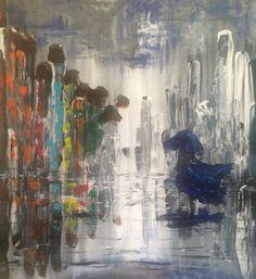 The Copenhagen Affair, 80x80 cm, acrylic on canvas, April 2016