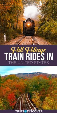 11 Best Fall Foliage Train Rides in the United States--Tanks that Get Around is an online store offering a selection of funny travel clothes for world explorers. Check out for funny travel tank tops and more US road trip destination ideas Train Travel, Travel Usa, Train Trip, Train Journey, Travel Plane, Airplane Travel, Disney Travel, Trains, Places To Travel