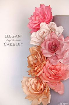 Easy diy tissue paper flowers a simple diy from pinterest decorate your own wedding cake with paper roses made of coffee filters and tea a mightylinksfo