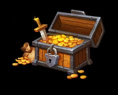 ArtStation - Treasure Chest, Betty Jiang