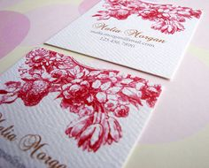 Personalized Business Cards Calling Cards  Set of by PikakePress, $20.00