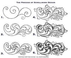New Jewerly Silver Handmade Gold Ideas Leather Tooling Patterns, Leather Pattern, Baroque Ornament, Sculpture Ornementale, Grabar Metal, Motifs Art Nouveau, Filigree Tattoo, Ornament Drawing, Frame Ornament