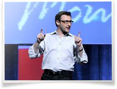 """Simon Sinek is an optimist. He believes in a bright future and our ability to build it together.     Described as """"a visionary thinker with a rare intellect,"""" Simon teaches leaders and organizations how to inspire people. With a bold goal to help build a world in which the vast majority of people go home everyday feeling fulfilled by their work, Simon is leading a movement to inspire people to do the things that inspire them."""
