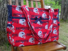 Custom made to order NFL ultimate diaper bag for dads with magnetic snap on Etsy, $60.00