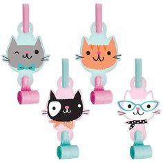 Take your little one's birthday party to the next level with adorable cat party blowers cast in vibrant pastel colors and fun designs. Includes 24 party W x HPaper / plasticImported Kitten Party, Cat Party, Party Blowers, Party Favors, Cat Themed Parties, Birthday Parties, Kid Parties, Wedding Parties, Kitty Party Themes