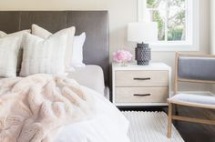 Amanda Barnes Interiors Modern Spanish Revival Master Bedroom