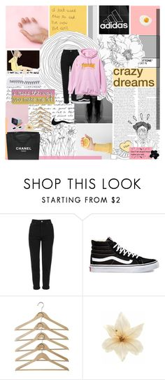 """""""had my first kiss on a friday night, I don't reckon that I did it right"""" by untake-n ❤ liked on Polyvore featuring Topshop, Vans, Garance Doré, Clips, Old Navy, Chanel and urtarrilak7"""