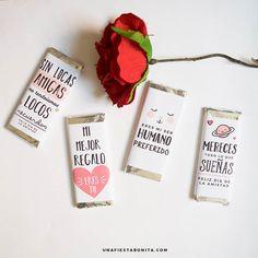 Descarga gratis envolturas para chocolates con temática de san valentín