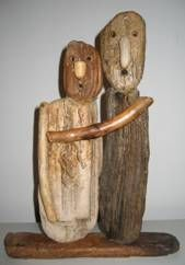 JOEL MOUELLO - Bois des Sables - Bois flottes Tree Branch Crafts, Driftwood Fish, Driftwood Projects, Sea Crafts, Junk Art, Weathered Wood, Recycled Art, Beach Art, Wood Sculpture