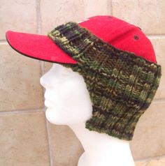 Ear Warmer for Baseball Cap  Camo  Ready by JenniferWhiteDesigns, $15.00