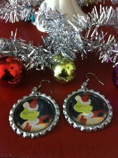 Check out our adorable holiday accessories in our Etsy shop https://www.etsy.com/listing/195113491/the-grinch-santa-earrings-stocking #GrinchEarrings #SmallBusinessSaturday