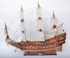 Galeão Inglês Wasa - Replica naval, em madeira, 110 x 96cm.