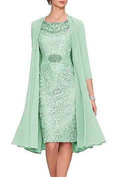 APXPF Women's Tea Length Mother of The Bride Dresses Two Pieces with Jacket at Amazon Women's Clothing store: