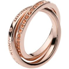 Michael Kors Trinity Rose Gold-Plated Rings ... lordandtaylor.com