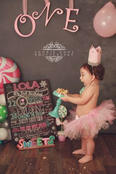 My Lola at her winter Candy ONEderland photo shoot! LOVE IT!