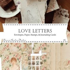 How to Assemble the Love Letters Junk Journaling Bundle | ElaineHowlinStudio – Elaine Howlin Christmas Post, Vintage Christmas, Reading Journals, Christmas Envelopes, Love Letters, Journal Cards, Pattern Paper, Etsy Store, Journaling