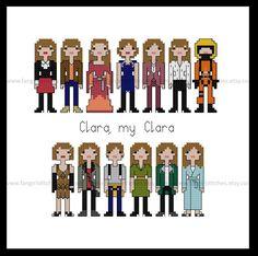 Doctor Who Clara Oswald Season Eight 8 cross stitch pattern by FangirlStitches