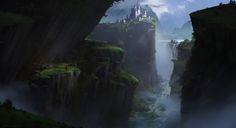 mountain top 2, Ruxing Gao on ArtStation at https://www.artstation.com/artwork/mountain-top-2