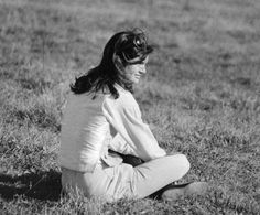 Jackie Kennedy Onassis at the Essex Fox Hunt at Cowperthwaite Farms, October 28, 1974.