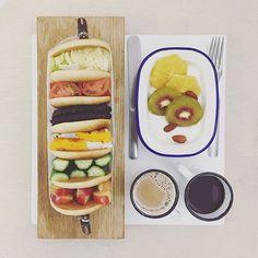 . good morning rush rush tuesday :-P))) . #goodmorning #morning #breakfast #yummy #goodfood #instafood #onthetable  #homemade #foodie #foodstagram #igfood #foodphotography #foodphoto #yum #S_S_iloveBreakfast #朝食 #早餐 #goodmorning #早安 #おはようございます #cooking  #sandwich #三明治 #サンドイッチ #1234567層鬆餅三明治 #沼サンド #萌え断 #pancake #pancakesandwich #パンケーキ