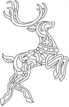 Printable reindeer antlers pattern. Use the pattern for ...