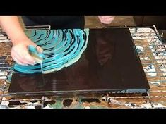 (26) Acrylic Dirty Pour on Negative Space - YouTube