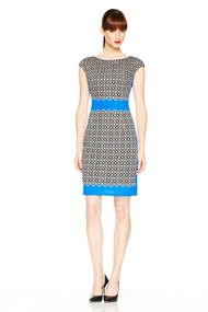 Foulard Print Sheath Dress - Daytime at Maggy London