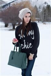 Black Oh My Chic Boyfriend Sweatshirt