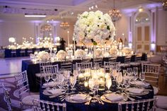 Tall White Peony and Garden Rose Centerpieces