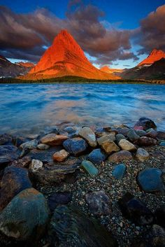 sunset glacier | Sunset Peak, Glacier National Park, Montana | the road ahead