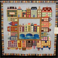 "LOVE this Amsterdam canal house quilt!!! (pattern ""Little Amsterdam"" from North Sea Quilters)"