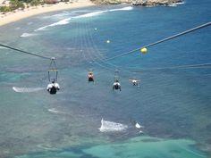 Ziplining in Haiti
