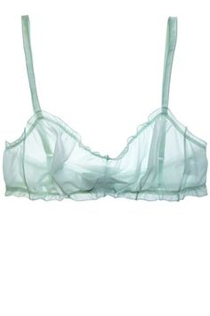 Lingerie To Feel Pretty AND Powerful In #refinery29 Araks Claire Bralette in Pistachio, $110, available at Araks