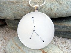 Cancer Constellation Jewelry - Glass Astrology - Accessories - Necklace - Pendant. $9.95, via Etsy.