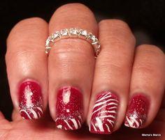 MeMa's Mani's: Christmas Zebra and Born Pretty Review