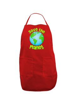 TooLoud Save the Planet - Earth Dark Adult Apron