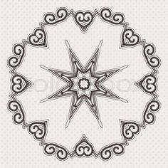 Filigree Flower Henna Pattern