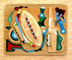 Perseo -  wood,acrylic by Jose Jesus Gonzalez Guirado