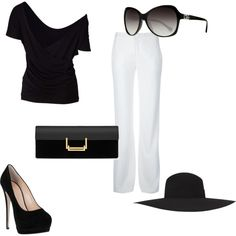 """classy black and white"" by mandy-e-racine on Polyvore"