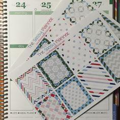 NEW! December Monthly Write-On Full Box Stickers for Erin Condren Life Planner/Plum Paper Planner - Set of 16