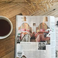 My morning ritual of a cup of Two Rivers Green Tea made even lovelier this morning when I spotted this feature in House & Garden of my collab with Anna Spiro! Anna Spiro, Morning Ritual, Art Series, Upholstered Beds, Bed Head, How To Make Bed, Storage Boxes, Rivers, Bedroom Furniture