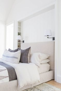 A Post-Dorm Style Room to a Bright, Fresh Traditional Master | CLJ Mood boards - Chris Loves Julia