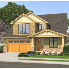 Love The Exterior Style... Craftsman Is My Favorite Style Home.