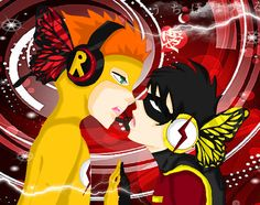 Robin dick grayson young justice kid flash wally west Mine 10 YJ