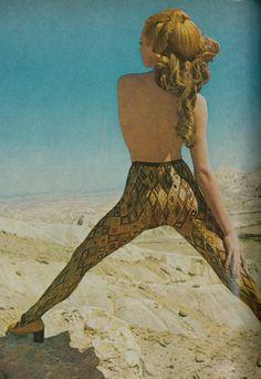 Nylon tights by Emilio Pucci, 1969 Vogue, by John Cowan
