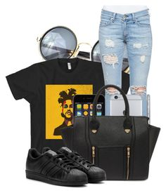 """XO XO XO"" by c0kkiemonsterrx3 ❤ liked on Polyvore featuring rag & bone/JEAN, Yoki and adidas"