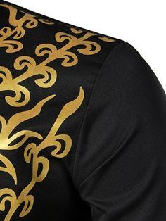 African Fashion Dashiki Floral Print Men's Shirt : Tidebuy.com Best Mens T Shirts, Casual Shirts For Men, Men Casual, African Maxi Dresses, African Shirts, Dashiki, Shirt Shop, Types Of Sleeves, African Fashion