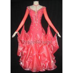 Coral Ballroom Standard Foxtrot Dance Dress